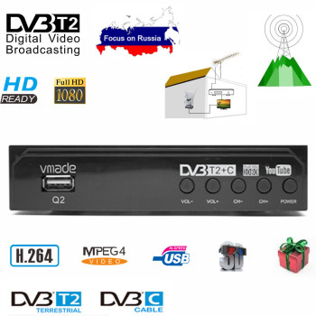 DVB-T2 TV Tuner Decoder HD 1080 WIFI TV BOX DVB-T Digital Terrestrial Receptor DVB T2 DVB-C Combo H.264 AC3 HD Audio tv 55 tx 55fxr740 4k smarttv 5055inchtv dvb t dvb t2 dvb s2 dvb c digital