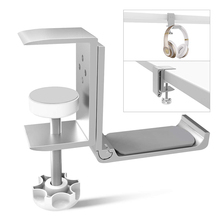 Desk-Mount-Stand Foldable Hanger Headphone-Hook-Holder Headset with Clamp-Supports Horizontal