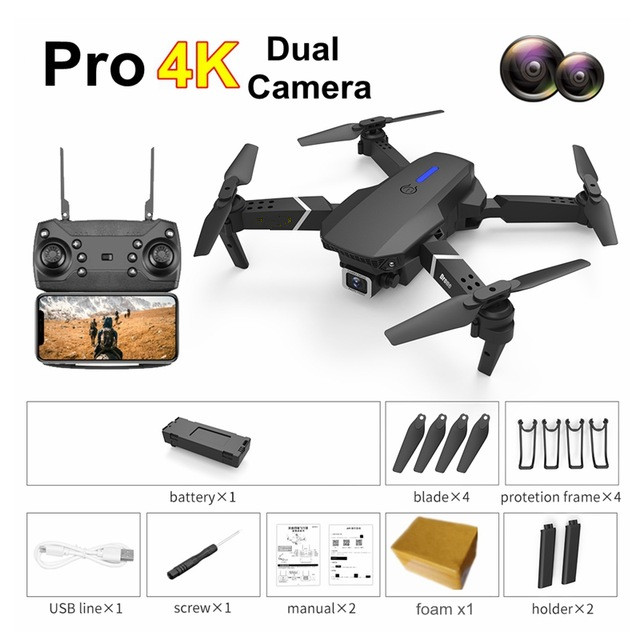 Best Smart WiFi FPV Drones with Camera HD 4K 1080P Wide Angle Foldable RC Quadcopter Altitude Hold Auto Follow Mini RC Drone