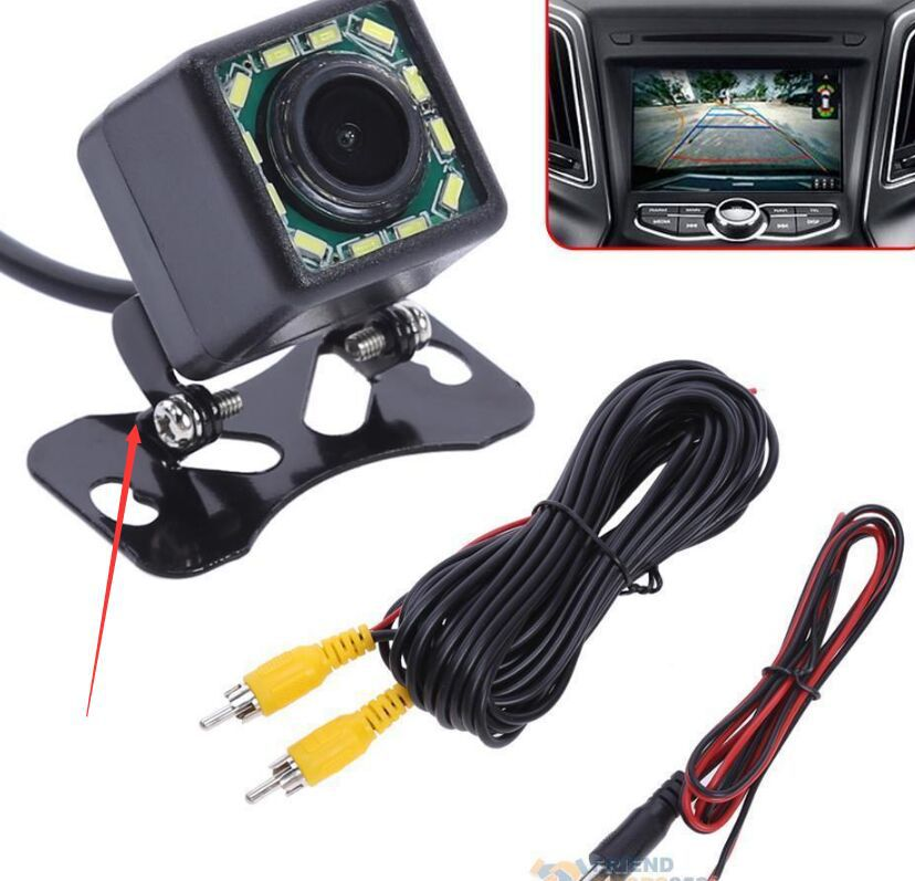 Square Light Included High-definition Night Vision CCD On Board Camera Vehiclel Backup Camera PZ412-12