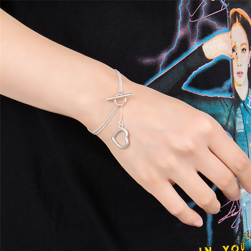Kpop BlackPink Heart Shape Pendant Bracelet Exquisite Jewelry KILL THIS LOVE JENNIE LISA ROSE JISOO Fans Jewelry(China)