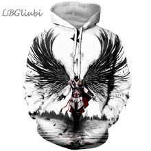 LBG new 3D printing assassin creed hoodie Assassin fashion men and women Harajuku cool