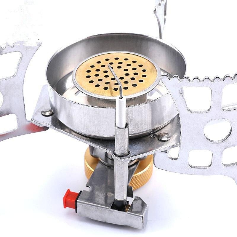 Портативный газ плита высокая мощность супер ветрозащитный мини открытый плита плита пикник газ плита адаптер кемпинг плита сплит тип