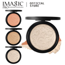 Imagic Highlighter Poeder Mode Vrouwen Bronzer Poeder Hoge Lichter Poeder Make-Up Professionele Verhelderende Gezicht Contour 1Pcs(China)