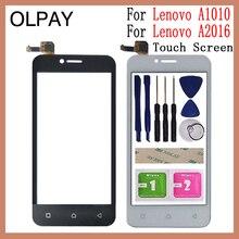 Vidro de toque para lenovo a plus a1010 a 1010 a1010a20 tela sensível ao toque para lenovo vibe b a2016 a40 sensor digitador do painel touchscreen