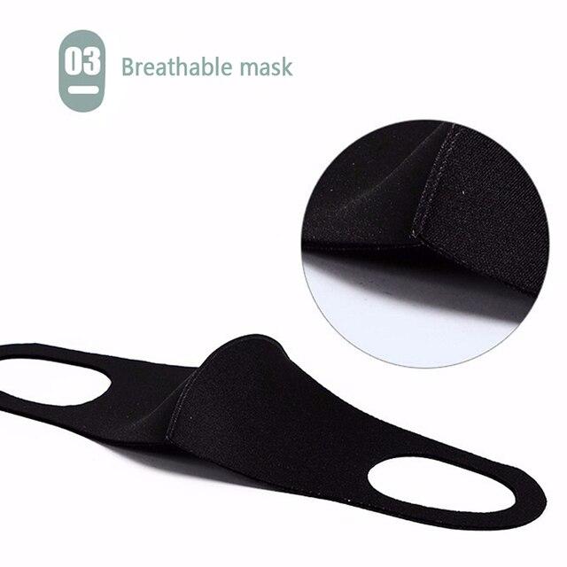 10Pcs Unisex Outdoor Anti-flu Anti-smog Soft Nano Fiber Sponge Breathing Protective Face Masks Anti-Dust Motorcycle Sport Mask 5