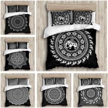 Styl narodowy czechy 3D powłoczki Mandala zestaw poszewek zimowe łóżko prześcieradło poszewka duża pościel tanie tanio Brak Zestawy Kołdrę CN (pochodzenie) Tkanina z mikrofibry Kwalifikacje PRINTED Zachodnia Mieszkanie sitodruku Domu 3 sztuk