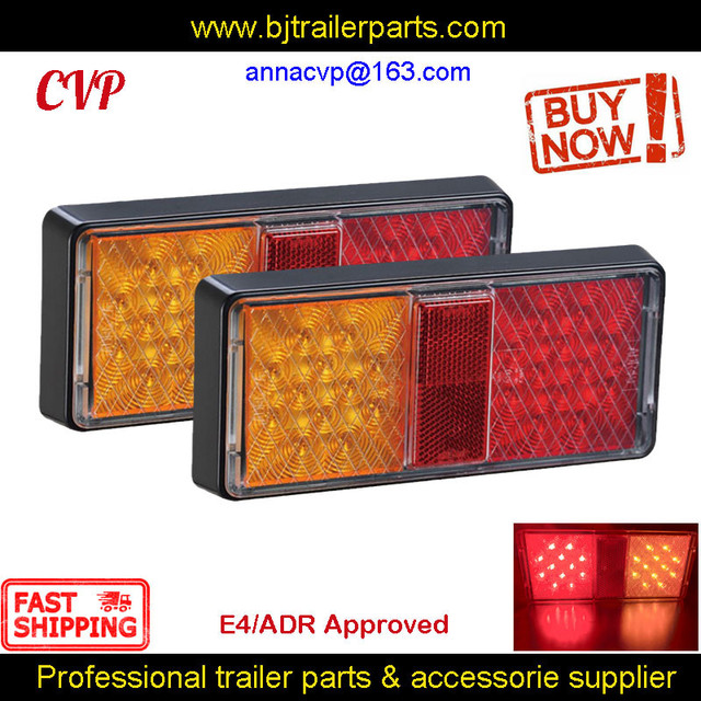 E4 ADR مجموعة مصابيح الشاحنة ، مصابيح Led ، إشارة الانعطاف الخلفية ، الفرامل ، قطع غيار RV الغاطسة ، الملحقات