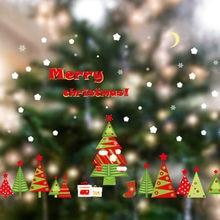 Appeso Pupazzo di Neve Regalo di Natale finestra Autoadesivo del PVC di Natale Casa Camera Da Letto Della Parete di Terra Posteriore Adesivo per finestra di Natale BDF99