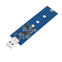 M.2 to USB Adapter B Key M.2 SSD Adapter USB 3.0, No Cable Needed, USB to 2280 M2 SSD Drive Adapter, NGFF Converter SSD Card