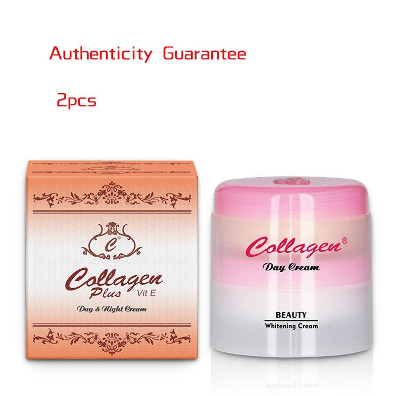 2PCS/1Box Vitamin E Day And Night Cream Collagen Beauty Cream Brightening And Blemish Cream English Pakcage Whitening Cream 40G
