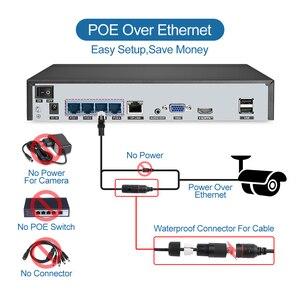 Image 4 - Techage sistema de cámaras de NVR POE, 4 canales y 5MP, cámara IP de Audio bidireccional para exteriores, impermeable, Kit de vigilancia de seguridad de vídeo CCTV