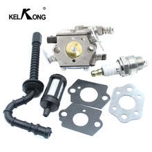 KELKONG Carburateur Carb Voor STIHL MS250 MS230 MS210 025 023 021 Pakking Brandstofslang Buis Filter Bougie Chainsaw Spare onderdelen(China)