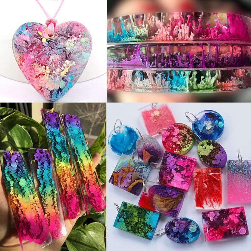 20 Colours 10ML Crystal Epoxy Resin Pigment Liquid Colorant Dye Ink Diffusion Resin Jewelry Making DIY Handmade Crafts Art Sets 2