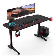 Computer-Table Mouse-Pad Ergonomic-Gaming-Desk E-Sports Pro-Workstation with Rack 55inch