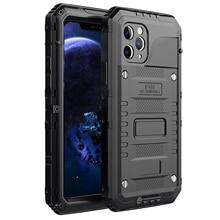 Boîtier en métal robuste robuste hybride robuste pour iPhone XS Max Armor IP68 couverture antichoc étanche
