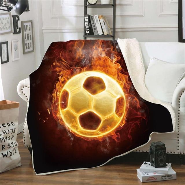حار لكرة القدم كرة القدم البيسبول طباعة مربع بطانية الشتاء مشاهدة التلفزيون أريكة رمي بطانية المحمولة مكتب بقية السفر البطانيات