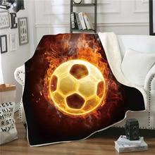 Hot Soccer Football Baseball Print Square Blanket Winter Watch TV Sofa Throw Blanket Portable Office Rest Travel Blankets