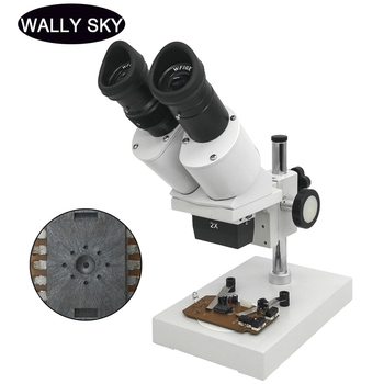 40X Binocular Stereo Microscope Industrial Microscope with WF10X Eyepiece Soldering Microscope for Smart Phone Repairing Tool 20x 40x sector base binocular stereo microscope pcb microscope cell phone mobile phone repair with top and bottom led light