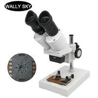 40X Binocular Stereo Microscope Industrial Microscope with WF10X Eyepiece Soldering Microscope for Smart Phone Repairing Tool