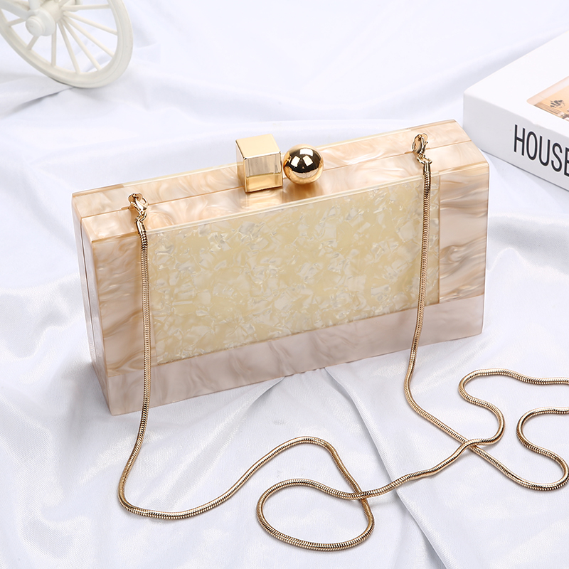 Marble Pattern Acrylic Bag Luxury Handbags Women Bags Designer Brand Famous Clutch Bag Party Wedding Clutch Purse bolso ZD1330