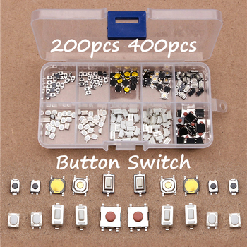 200PCS 10 Models Car Remote Control Tablet Micro Switch Key Touch Tactile Push Button 4*4 3*6 3*4 6*6 100 pcs box of tact switch 4 legged vertical patch 6 6 4 1 4 3 5 6 6 5 7 5 8 9 3 10 5 12mm micro push button switch key switch