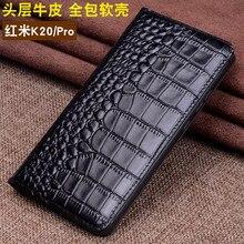 Luxury Genuine Leather Flip Case Cover Magnetic Cases For Xiaomi Redmi K20 Pro Phone Fundas