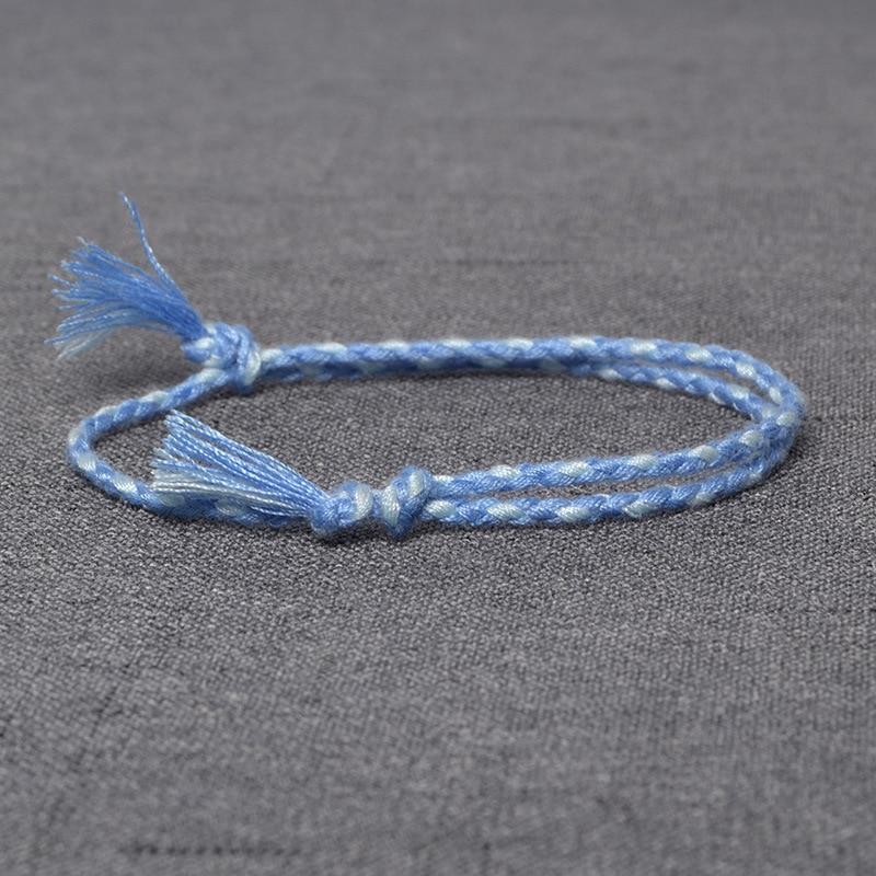 HI MAN 15 Style New Design Japanese Cotton Rope Handmade Bracelet Women Fashion Simple Color Wrap Bracelet Friendship Gift