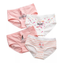 4 Pcs/lot Sexy Panties Women Cotton Flamingo Underpants Briefs Girl Fashion Cute