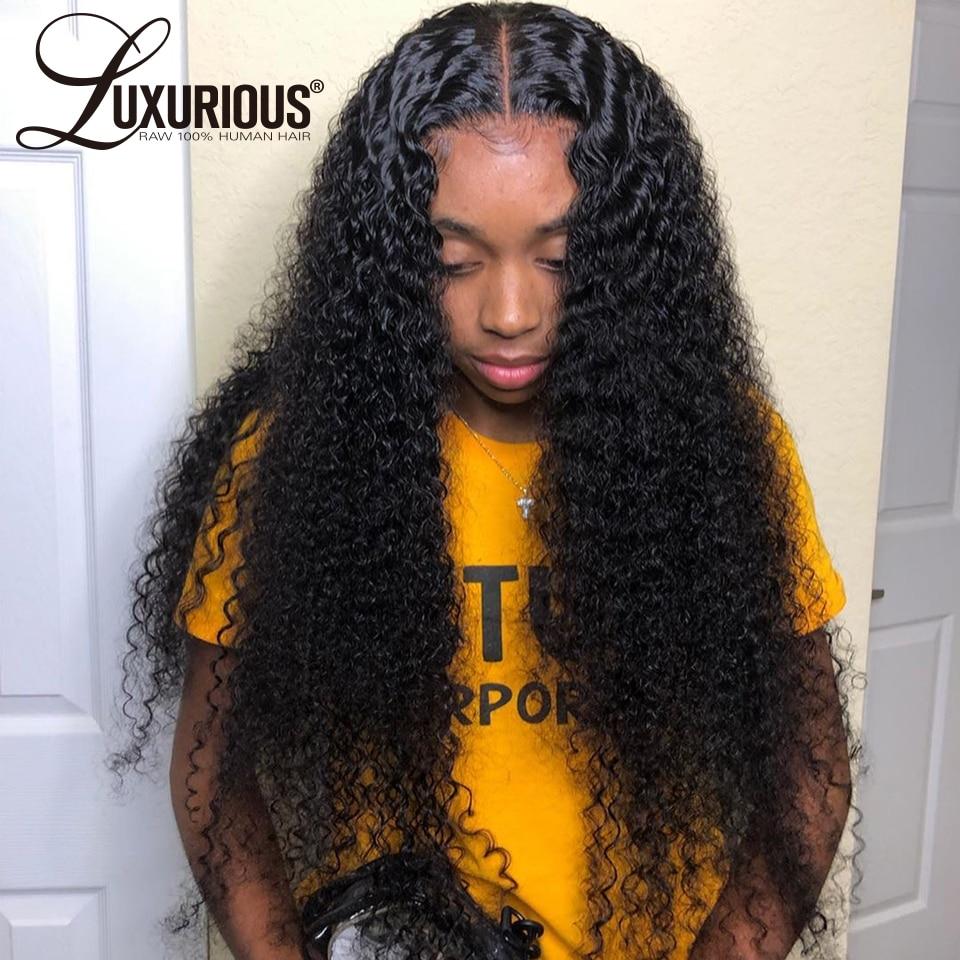 150% кудрявые человеческие волосы парик с детскими волосами предварительно выщипанные кружевные передние человеческие волосы парики для же...