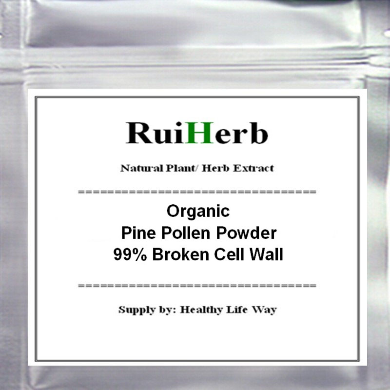 Organic Pine Pollen Powder 99 Percent Broken Cell Wall Yellow Color Free Shipping