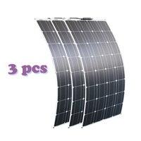 RG solar panel 300w 200w 400w 12V volt panel solar flexible monocrsytalline solar cell for car marine solar battery 12v/24v 100W