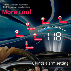 Image 3 - GEYIREN HUD M6s head up display Overspeed Warning Windshield Projector on board OBD scanner With Lens Hood Universal Auto HUD