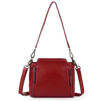 High Quality Women Shoulder Bags Real Genuine Leather Female Bags For Ladies Crossbody Bags Luxury Designer Handbags