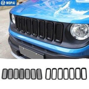 Image 1 - MOPAI Racing Grills für Jeep Renegade 2015 + Auto Kühlergrill Dekoration Abdeckung Aufkleber für Jeep Renegade Auto Zubehör Styling