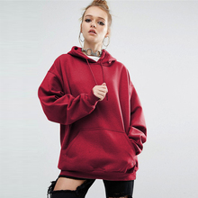 GUMNHU Women Fleece Hoodie Sweatshirts Winter Japanese Fashion 2019 Oversize Ladies Pullovers Warm Pocket Hooded Jacket