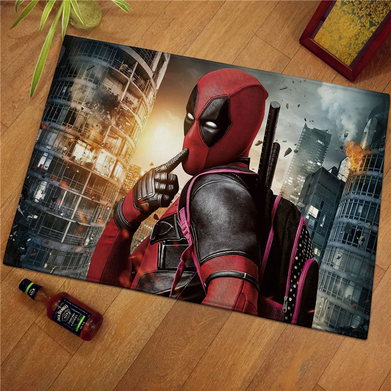 60x40cm Marvel  Spiderman Print Modern Home Doormat Insole Kitchen Carpet Indoor Outdoor Welcome Bathroom Anti-slip Floor Mats