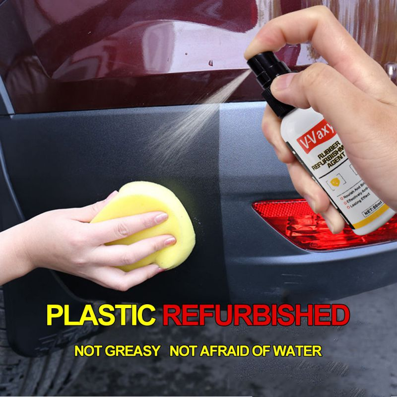 Hot 50ml Car Plastic Plating Refurbishing Agent Automotive Coating Polishing Protection Detergent