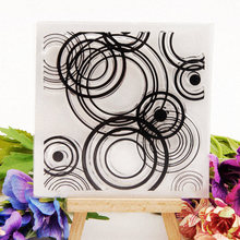 New Design Circle Clear Stamps for DIY Scrapbooking Card Rubber Transparent Making Album paper Craft Decoration Stamp