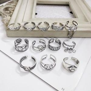 Silvology, 12 стилей, кольца со смайликом, Стерлинговое Серебро 925 пробы, винтажная цепочка, серия смайлов, креативные кольца для женщин, милые юве...