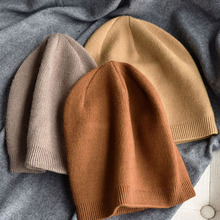 Cashmere-Beanies Skullies Best-Matched Warm Autumn Winter Woman Real Solid-Color VISROVER