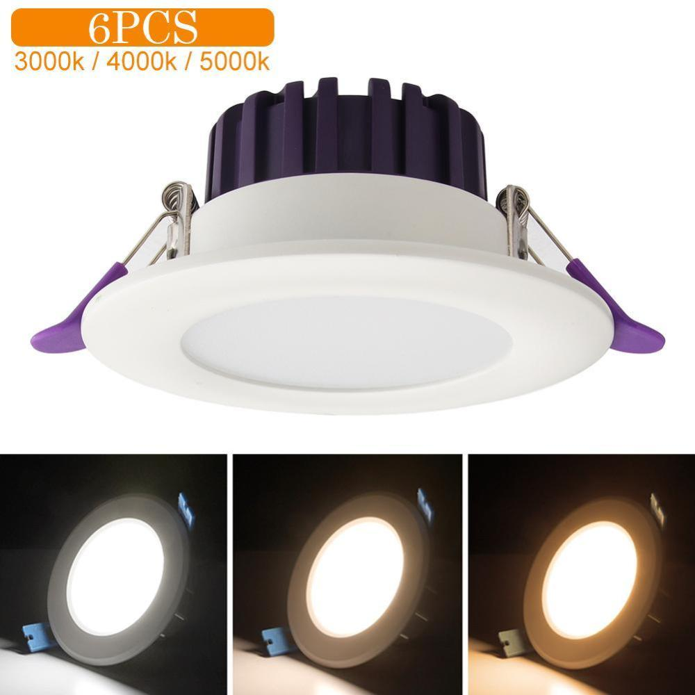 6pcs pack 3Color LED Downlight Recessed Ceiling Lamp Home Warm White Ceiling Light Home Modern LED Light in LED Night Lights from Lights Lighting