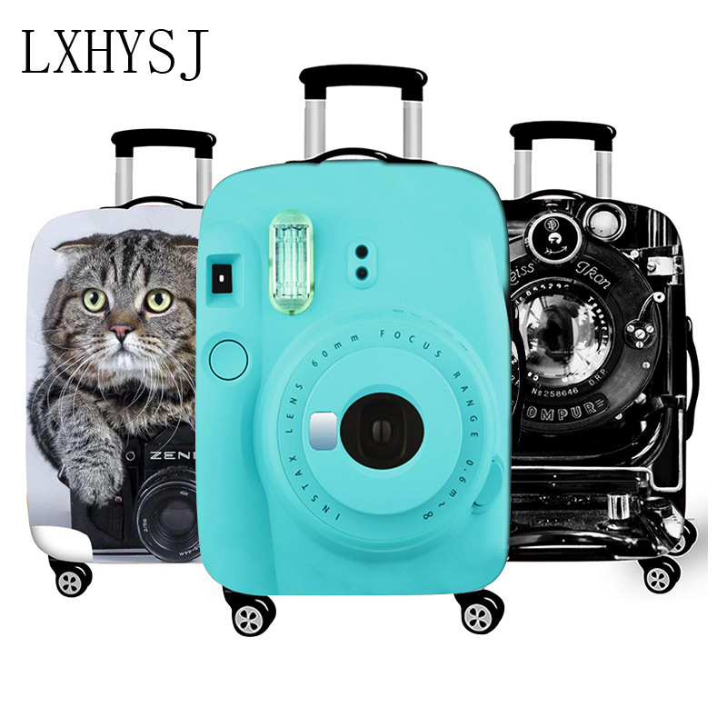 3D Camera Luggage Cover Thicken Elasticity Luggage Protective Covers Suitcase Case Suitable For 18-32 Inch Travel Accessories