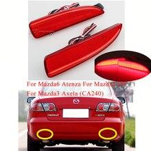 MIZIAUTO 2PCS LED Rear Brake light for Mazda6 Atenza For Mazda2 DY Mazda3 Axela (CA240) Bumper Reflector Tail Stop Light