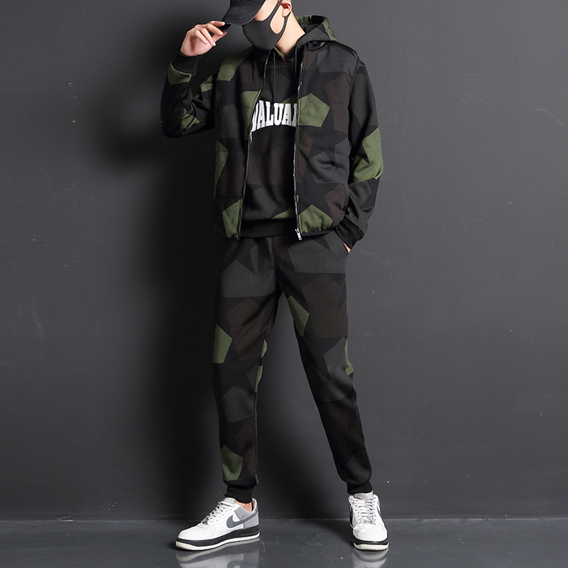 3pcs High Quality Tracksuit Men Winter Sweat Suit Tracksuit Three-piece Sweatshirt Set Casual Men Sportswear Sets Brand Fashion