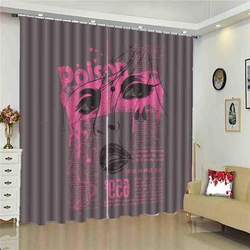 Custom European style Blackout Curtains face Window Curtain Lving Room Bedroom Kids Room Modern Curtains 3D