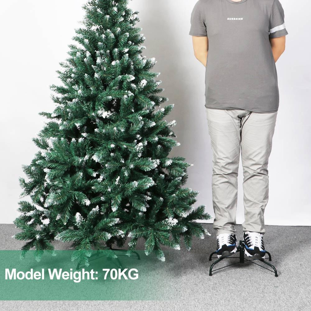 Image 5 - OurWarm 6ft Fake Artificial Flocked Christmas Tree with Snow Strong Metal Stand Christmas Decorations for Home Fire PreventionTrees   -
