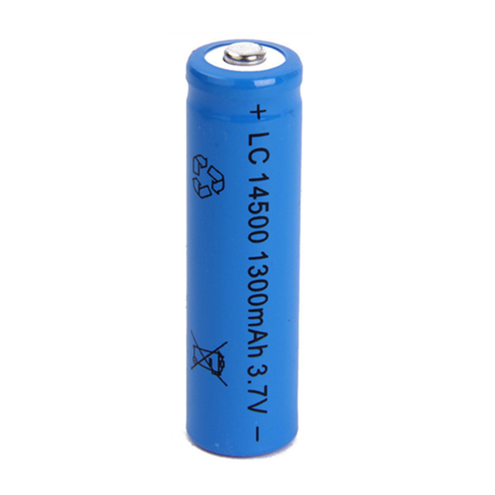1pcs 14500 battery 3.7V 1300mAh li-ion rechargeable battery for Led flashlight rc toy batery 3.7v lipo