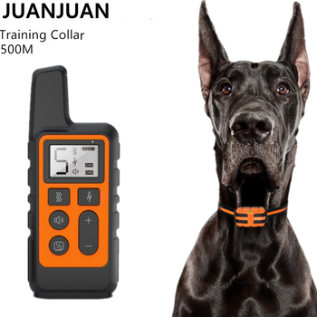 500M Dog Training Collar Pet Electric Remote Control Collar Waterproof Rechargeable Dog Training Tool with LCD Display 30% OFF