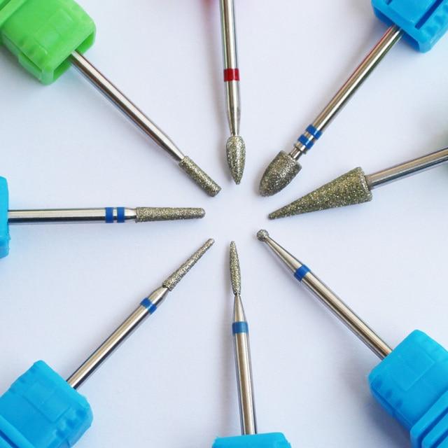 ASWEINA 8 Type Diamond Nail File Drill Bit Burr Milling Cutter Manicure Electric Nail Drill Machine Nail Accessories 1